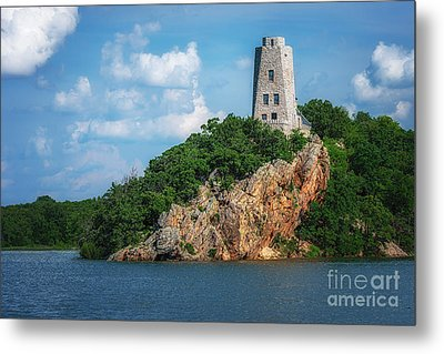 Tucker's Tower Gentle Summer Day Landscape Metal Print by Tamyra Ayles