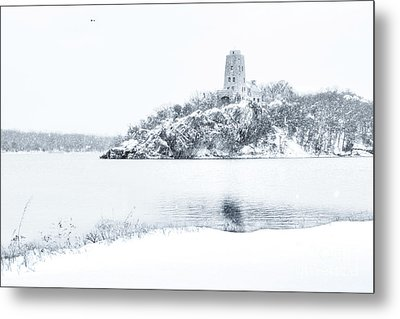 Tucker's Tower In Winter Metal Print by Tamyra Ayles