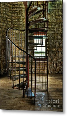 Metal Print featuring the photograph Tucker's Tower Spiral Staircase by Tamyra Ayles