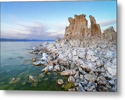 Metal Print featuring the photograph Mono Lake - Tufa by Francesco Emanuele Carucci