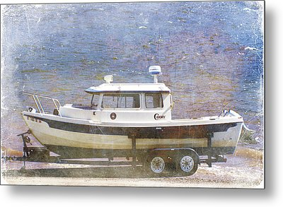 Metal Print featuring the painting Tugboat by Cynthia Powell