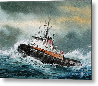 Tugboat Hunter Crowley Metal Print