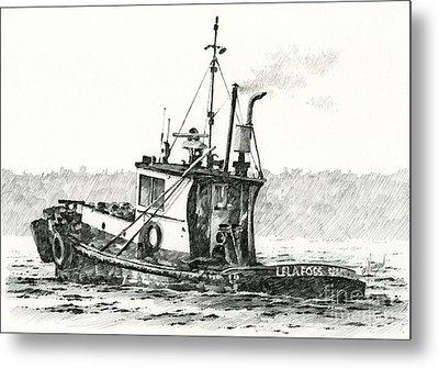 Tugboat Lela Foss Metal Print by James Williamson