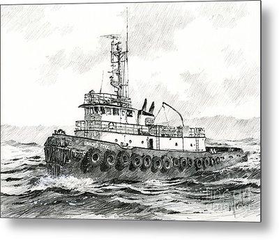 Tugboat Sandra Foss Metal Print by James Williamson