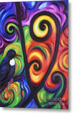 Tui And Koru Metal Print by Dianne  Connolly