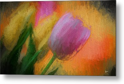 Tulip Abstraction Metal Print by TK Goforth