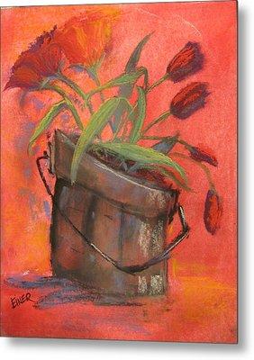 Tulip Bucket Metal Print