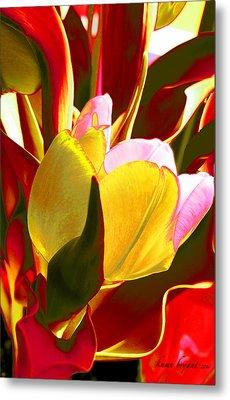 Tulip Kisses Abstract 4 Metal Print