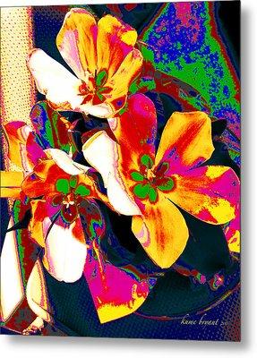 Tulip Kisses Abstract 7 Metal Print