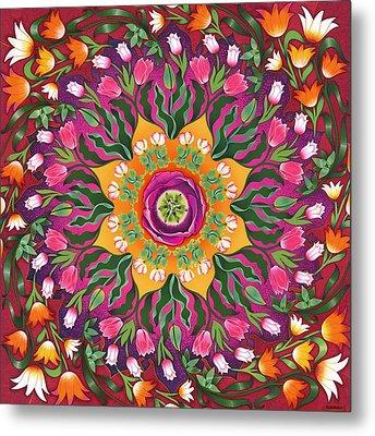 Tulip Mania 2 Metal Print by Isobel  Brook Haslam