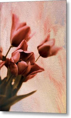 Metal Print featuring the photograph Tulip Whimsy by Jessica Jenney