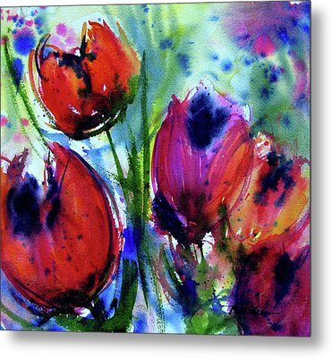 Tulips 1 Metal Print by Marti Green