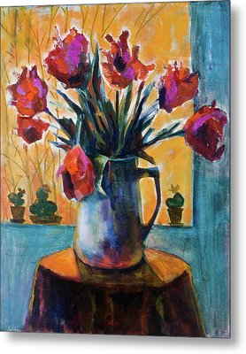 Tulips At Sunset Metal Print