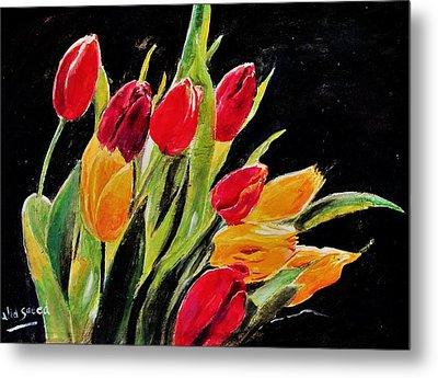 Tulips Colors Metal Print