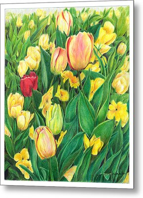 Tulips From Amsterdam Metal Print by Jeanette Schumacher