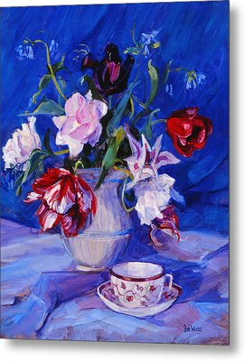 Tulips From My Garden Metal Print by Sue Wales