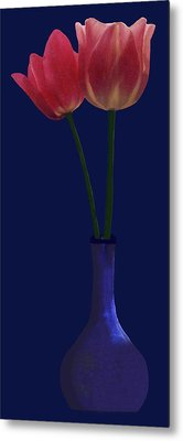 Tulips In A Vase Metal Print