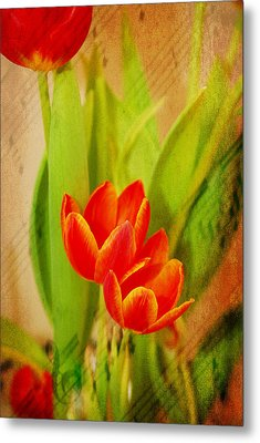 Tulips In Harmony Metal Print by Mary Timman