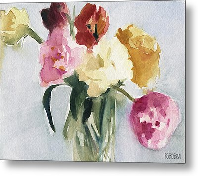 Tulips In My Studio Metal Print by Beverly Brown