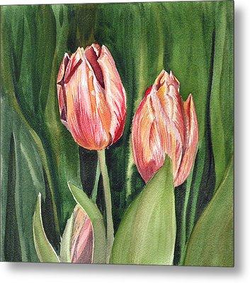 Tulips  Metal Print by Irina Sztukowski