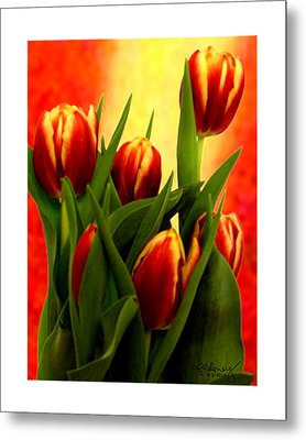 Tulips Jgibney Signature  5-2-2010 Greenville Sc The Museum Zazzle For Faa20c Metal Print by jGibney The MUSEUM Zazzle Gifts