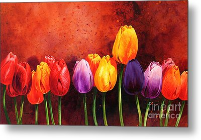 Tulips Metal Print by John Francis
