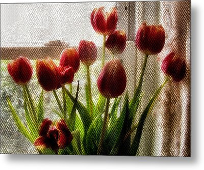 Tulips Metal Print by Karen Scovill