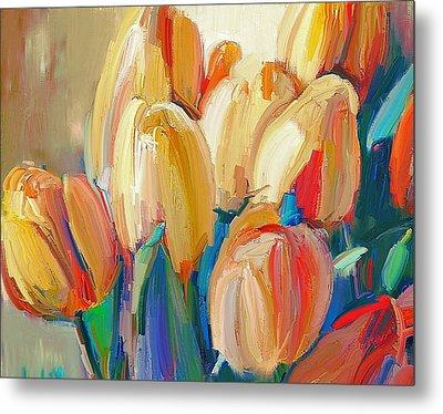 Tulips Paint Metal Print by Yury Malkov