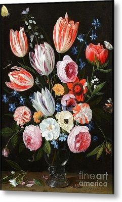 Tulips Roses Peonies Metal Print