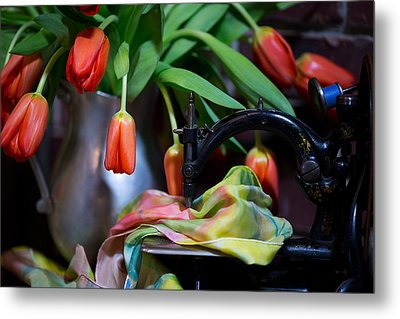 Metal Print featuring the photograph Tulips by Sharon Jones