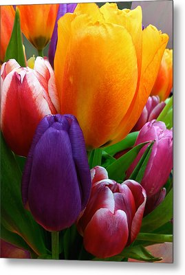 Metal Print featuring the photograph Tulips Smiling by Marie Hicks