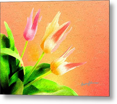 Tulips Three Metal Print by Anthony Caruso