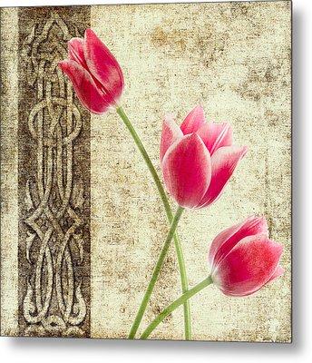Tulips Vintage  Metal Print by Mark Ashkenazi
