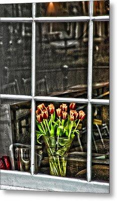 Tulips Window Metal Print by Marco Moscadelli