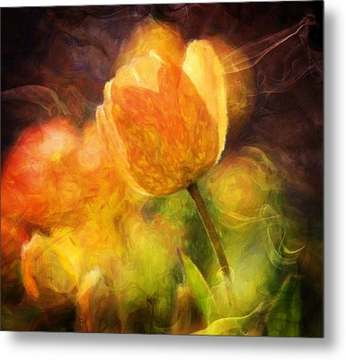 Tulips With A Moderntwist Metal Print