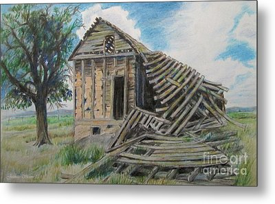 Tumbled Down House Metal Print by Jeanette Skeem