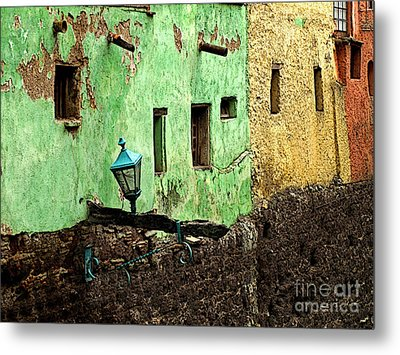 Tunnel Lamp 2 Metal Print by Mexicolors Art Photography