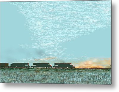 Metal Print featuring the digital art Tunnel Motors by Kerry Beverly