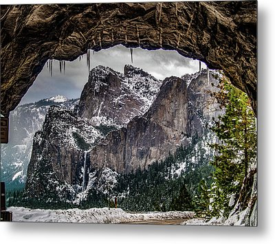 Metal Print featuring the photograph Tunnel View From The Tunnel by Bill Gallagher
