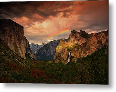 Tunnel View Rainbow Metal Print