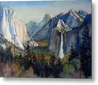 Tunnel View Yosemite Valley Metal Print by Howard Luke Lucas