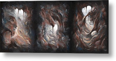 Tunnel Vision - Triptych Metal Print