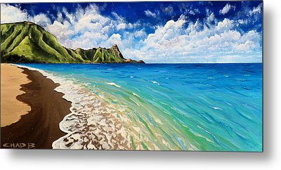 Tunnels Beach Metal Print by Chad Berglund