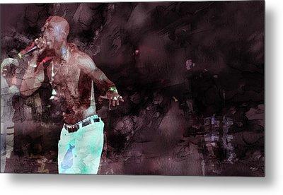 Tupac 4142000063 Metal Print by Jani Heinonen