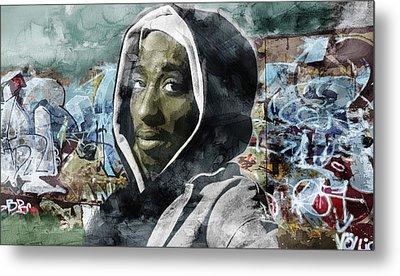 Tupac Graffitti 7 Metal Print