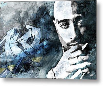 Tupac Graffitti 9 Metal Print by Jani Heinonen