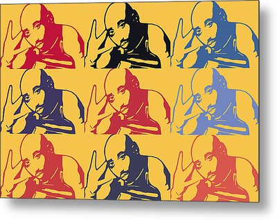 Tupac Shakur Graffiti In Andy Warhol Style Metal Print by Tommytechno Sweden