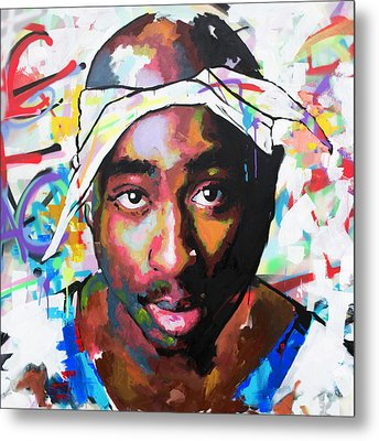 Metal Print featuring the painting Tupac Shakur II by Richard Day