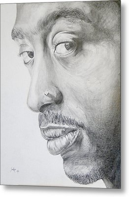 Tupac Shakur Metal Print by Stephen Sookoo