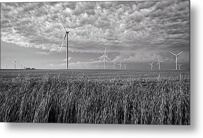 Turbines And Soybeans Metal Print by Mountain Dreams